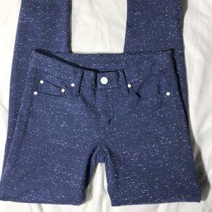 Mother blue knit stretch leggings - SAMPLE
